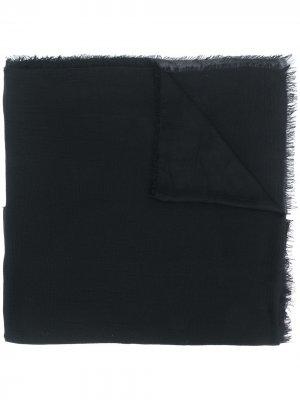 Трикотажный шарф с бахромой Faliero Sarti. Цвет: черный
