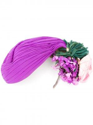 Шляпа 1940-х годов с цветочным декором A.N.G.E.L.O. Vintage Cult. Цвет: фиолетовый