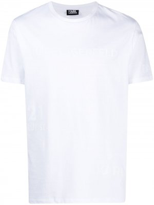 Футболка с логотипом Karl Lagerfeld. Цвет: белый