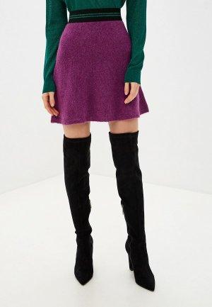 Юбка United Colors of Benetton. Цвет: фиолетовый