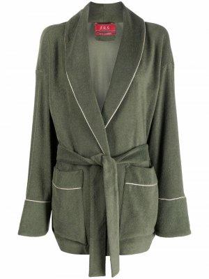 Махровый халат с поясом F.R.S For Restless Sleepers. Цвет: зеленый