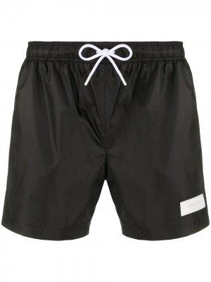 Плавки-шорты с нашивкой-логотипом Dondup. Цвет: черный