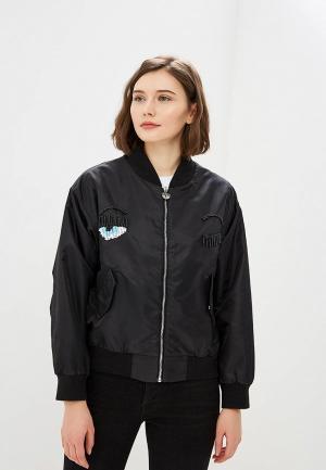 Куртка Chiara Ferragni Collection. Цвет: черный