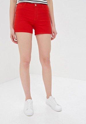 Шорты джинсовые Only. Цвет: красный