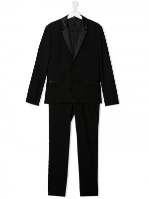 Строгий костюм-двойка Emporio Armani Kids. Цвет: черный