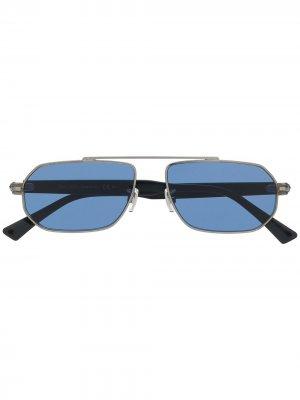 Солнцезащитные очки Viggos в шестиугольной оправе Jimmy Choo Eyewear. Цвет: серебристый