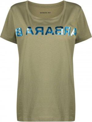 Футболка с логотипом Barbara Bui. Цвет: зеленый