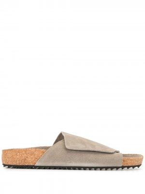 Сандалии с ремешком на липучках James Perse. Цвет: серый