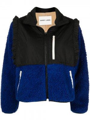 Куртка Mia в двух тонах Sandy Liang. Цвет: синий