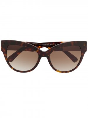 Солнцезащитные очки в оправе кошачий глаз Longchamp. Цвет: коричневый