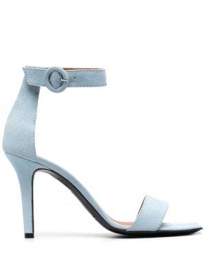 Босоножки на высоком каблуке Via Roma 15. Цвет: синий