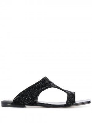 Декорированные сандалии Emilio Pucci. Цвет: черный