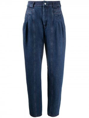 Зауженные джинсы с завышенной талией Koché. Цвет: синий