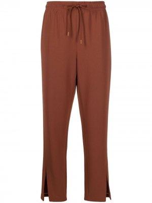 Прямые брюки с разрезами Theory. Цвет: красный