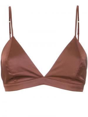 Triangle bra Lilly Sarti. Цвет: коричневый