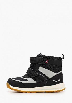 Ботинки Zebra. Цвет: черный