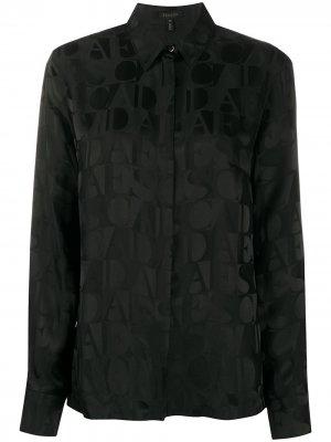 Рубашка с длинными рукавами и логотипом Escada. Цвет: черный