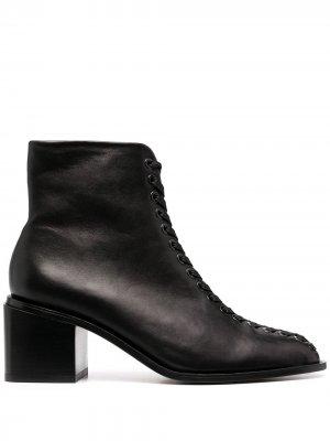 Ботильоны на шнуровке Clergerie. Цвет: черный