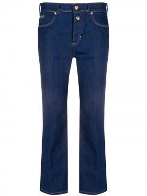 Укороченные расклешенные джинсы Heritage Gold Metal Versace Jeans Couture. Цвет: синий