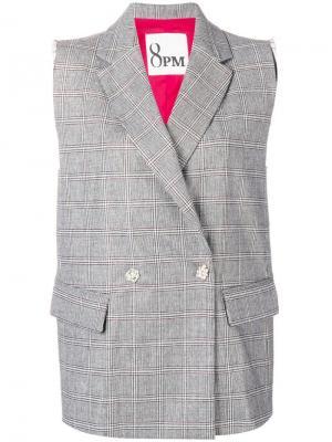 Davis checked jacket 8pm. Цвет: белый