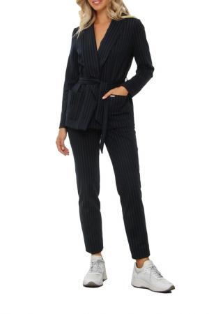 Костюм: пиджак, брюки, пояс AVEMOD. Цвет: темно-синий
