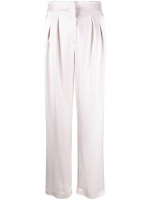 Атласные брюки широкого кроя In The Mood For Love. Цвет: розовый