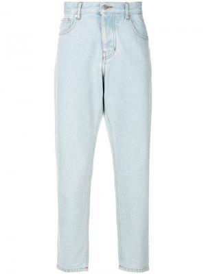 Зауженные к низу джинсы Ami Alexandre Mattiussi. Цвет: синий