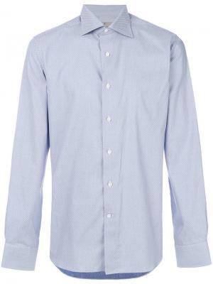Рубашка с принтом Canali. Цвет: синий