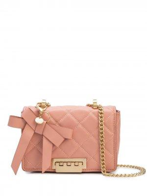 Стеганая сумка на плечо Zac Posen. Цвет: розовый