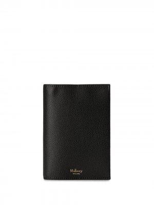 Обложка для паспорта из зернистой кожи Mulberry. Цвет: черный