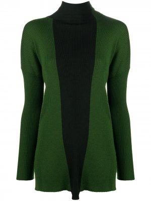 Джемпер со вставками в стиле колор-блок Pierantoniogaspari. Цвет: зеленый
