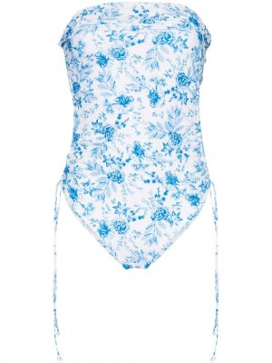 Купальник Lennox с цветочным принтом Juillet. Цвет: синий