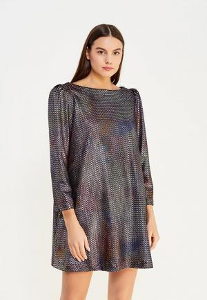 Платье Free People. Цвет: серебряный