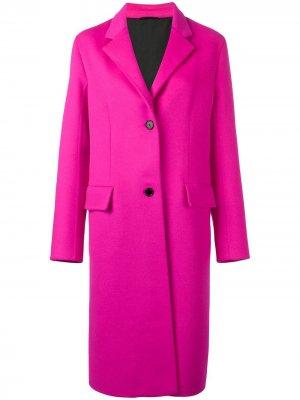 Классическое однобортное пальто Calvin Klein 205W39nyc. Цвет: розовый