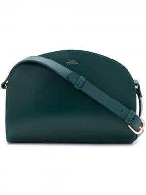 Сумка через плечо с логотипом A.P.C.. Цвет: зеленый
