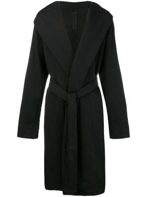 Кардиган-халат с капюшоном Rick Owens DRKSHDW. Цвет: черный