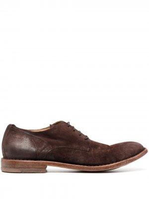 Туфли дерби с закругленным носком MOMA. Цвет: коричневый