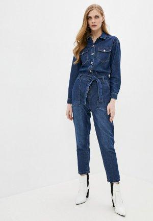 Комбинезон джинсовый Softy. Цвет: синий