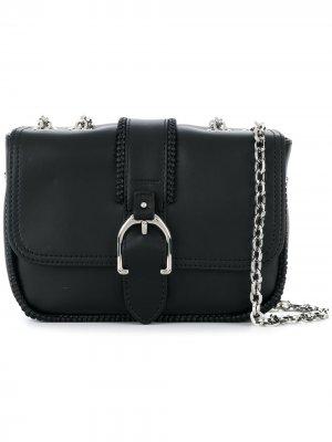 Сумка через плечо с пряжкой Longchamp. Цвет: черный