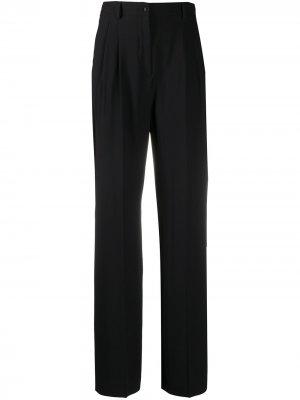 Прямые брюки с завышенной талией Alberta Ferretti. Цвет: черный
