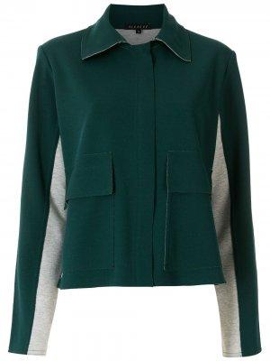 Укороченная куртка Lucinete Alcaçuz. Цвет: зеленый