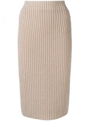 Knitted pencil skirt Iris Von Arnim. Цвет: нейтральные цвета