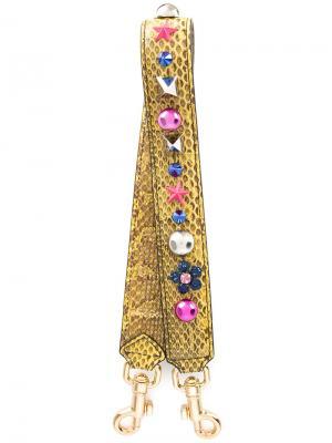 Декорированная лямка на плечо Dolce & Gabbana. Цвет: желтый