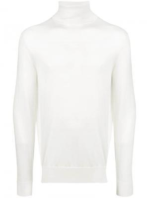 Turtleneck sweater Ermenegildo Zegna. Цвет: белый
