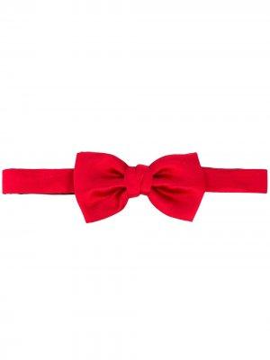 Однотонный галстук-бабочка LANVIN. Цвет: красный