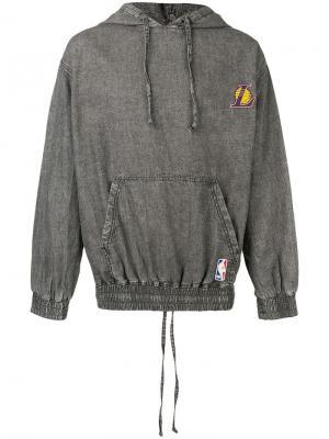 Худи LA Lakers Marcelo Burlon County of Milan. Цвет: серый