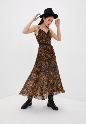Сарафан AllSaints. Цвет: коричневый
