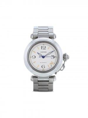 Наручные часы Pasha pre-owned 35 мм 1990-го года Cartier. Цвет: белый