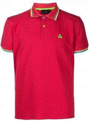 Рубашка поло с контрастными полосками Peuterey. Цвет: красный