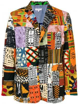 Пиджак в стиле пэчворк Engineered Garments. Цвет: разноцветный